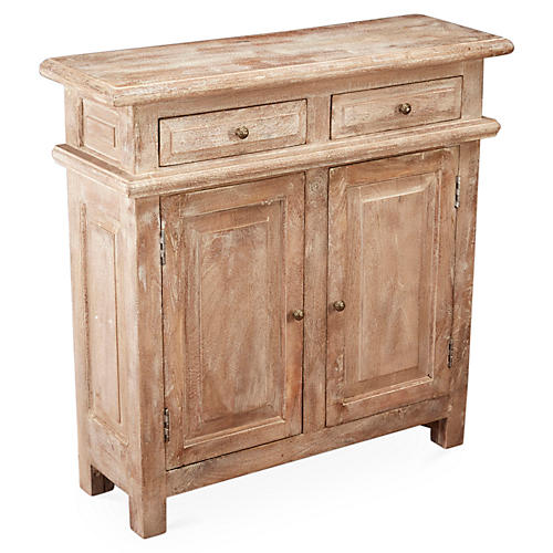 Douglas 2-Door Cabinet, Weathered Sand