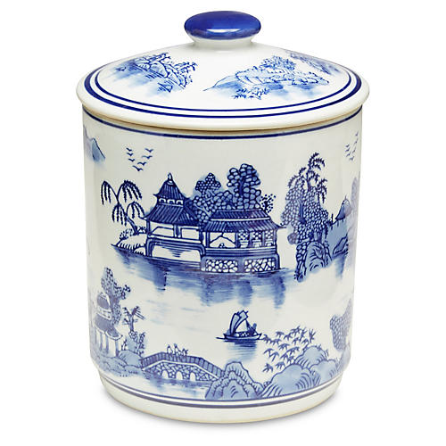 Blue Willow Canister w/Lid