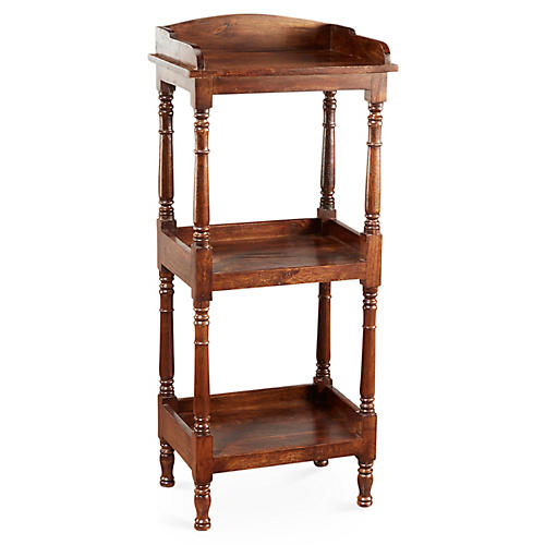 Concord Tiered Bookcase, Pecan