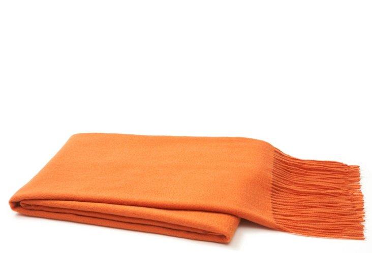 Waterwave Throw, Tangerine