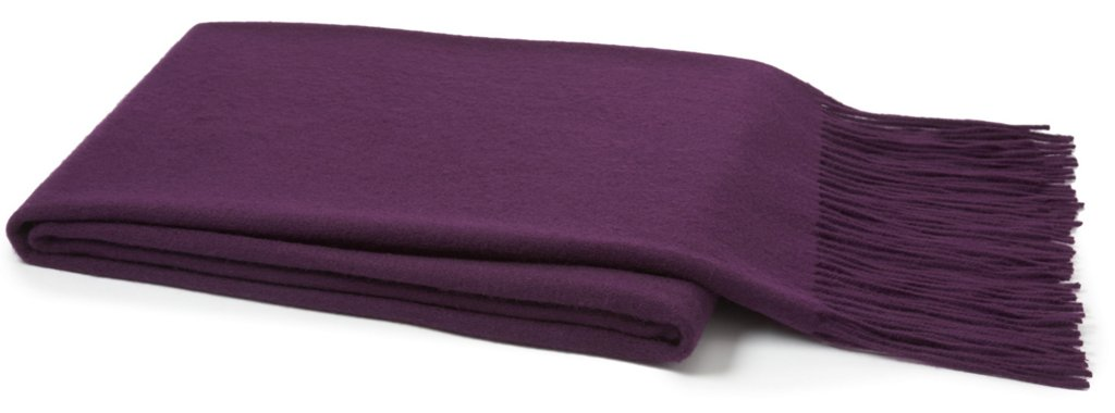 Solid Cashmere Throw Purple Pillows Throws Holiday Decor One Kings Lane