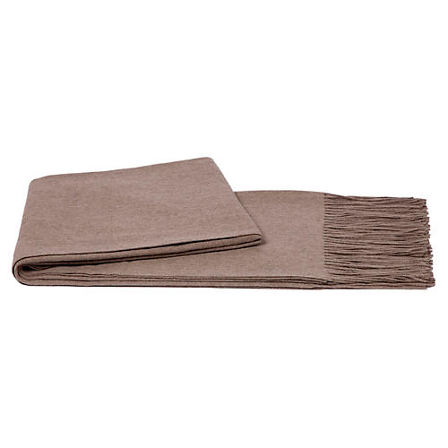 Solid Cashmere Throw, Sand