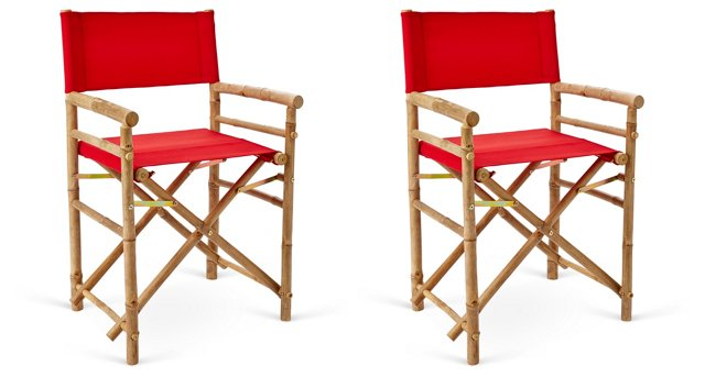 Outdoor-Safe Director's Chairs, Pair