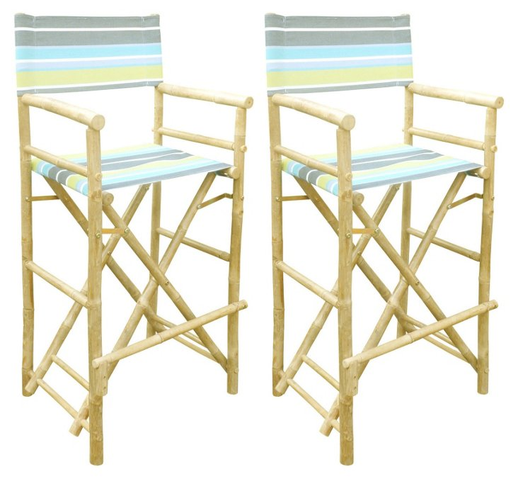 Outdoor High Director's Chairs, Pair