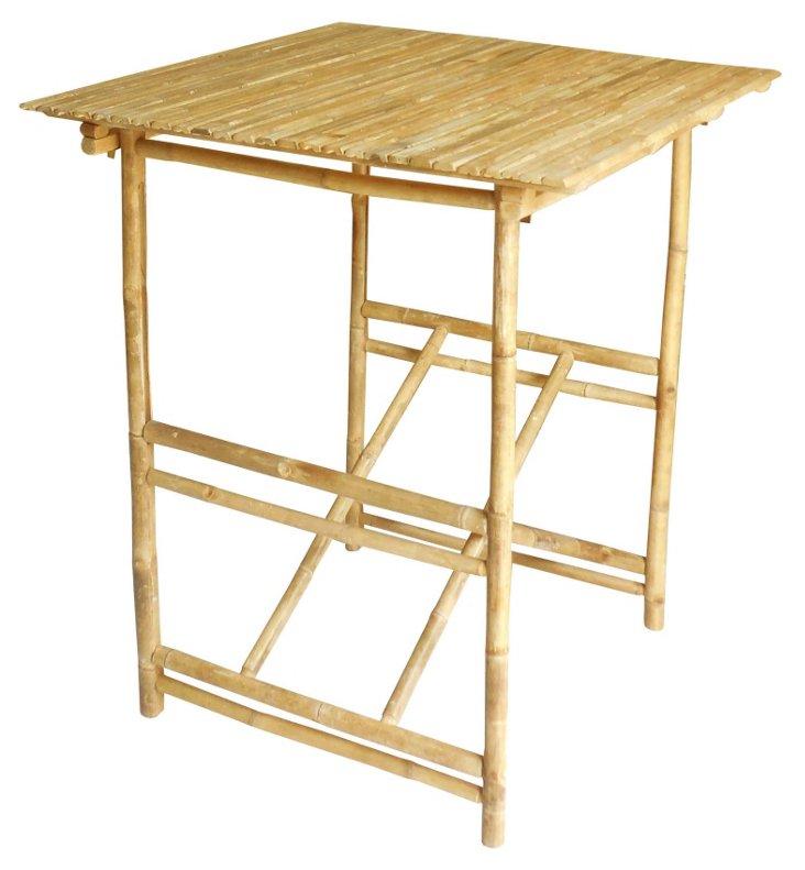 Outdoor Bamboo Bar Table