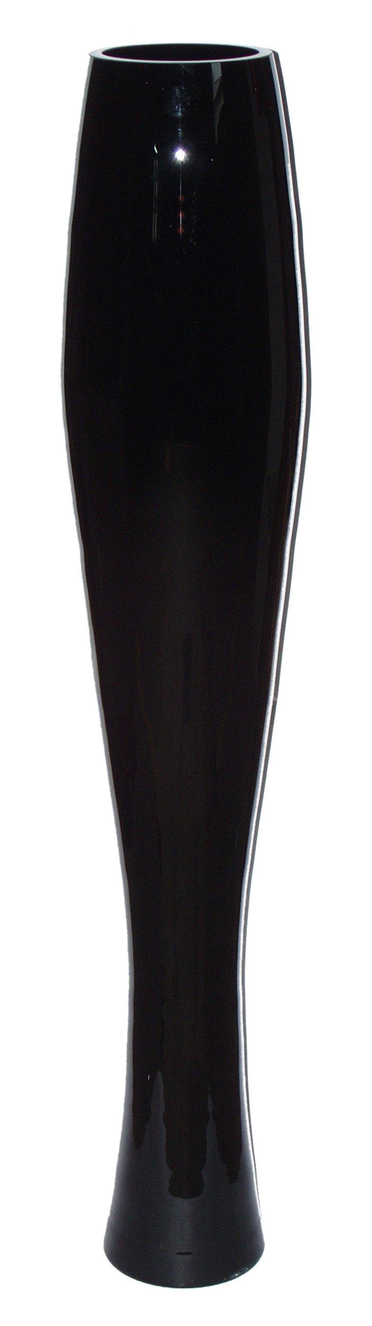 Vice Glass Vase, Black