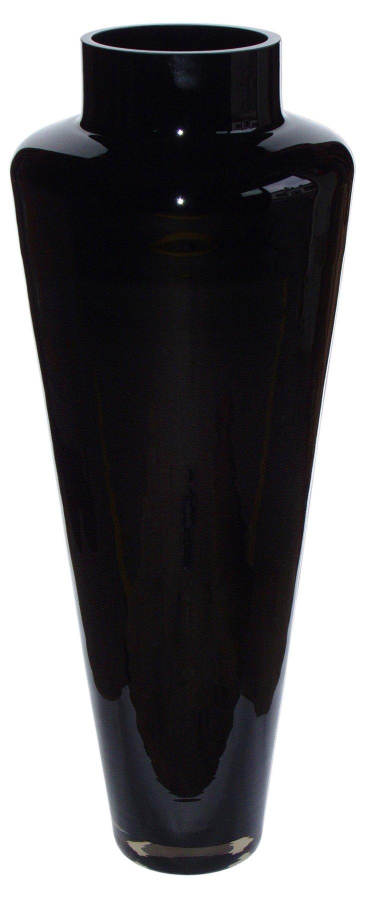 Dior Glass Vase, Black