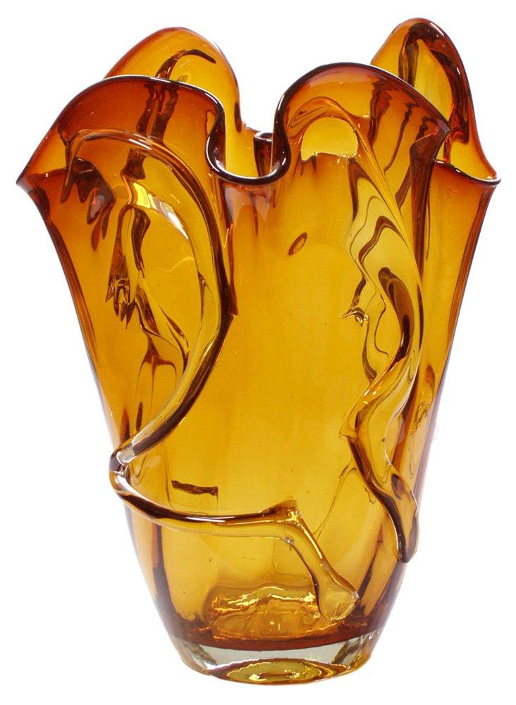 Dream Glass Vase, Amber/Clear