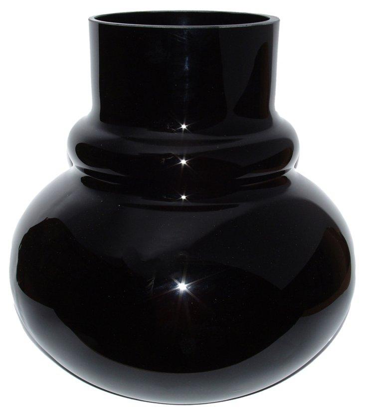 Celeste Glass Vase, Black