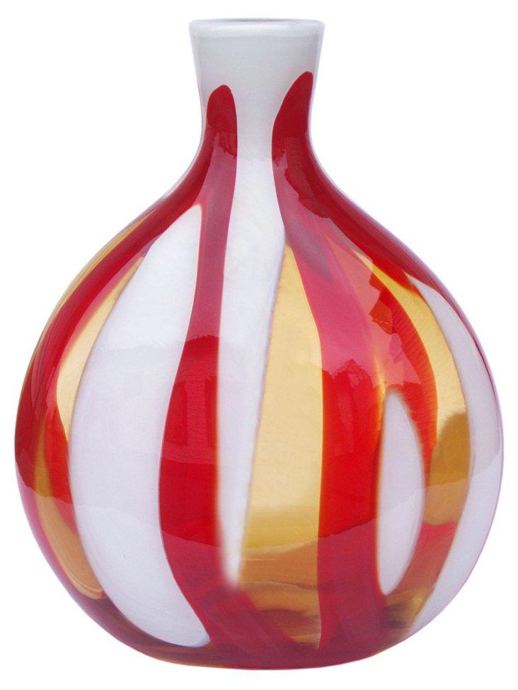 Samba Vase, Amber/Red