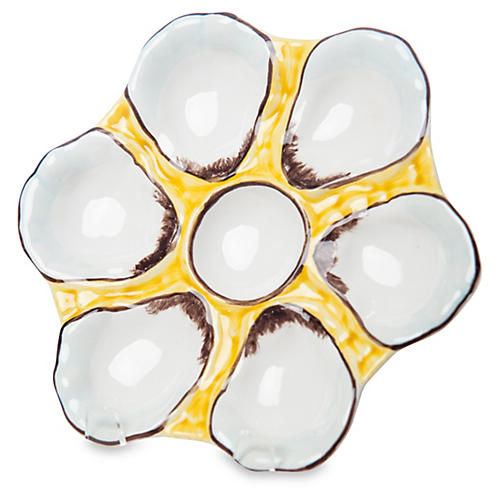 Canary-Yellow Oyster Plate