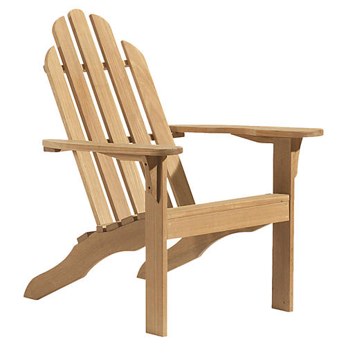 Leo Adirondack Chair, Natural