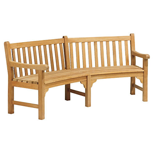 Elle Curved Bench