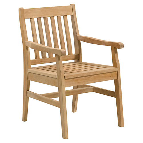 Walter Dining Armchair, Natural