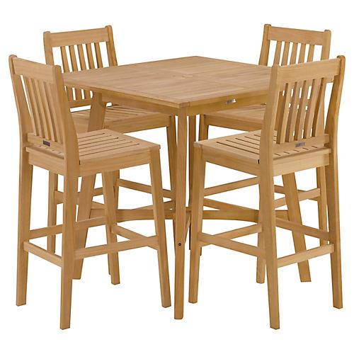 Seabrook 5-Piece Bar Dining Set, Natural