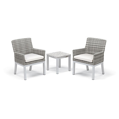 Asst. of 3 Travira Conversation Set, Eggshell