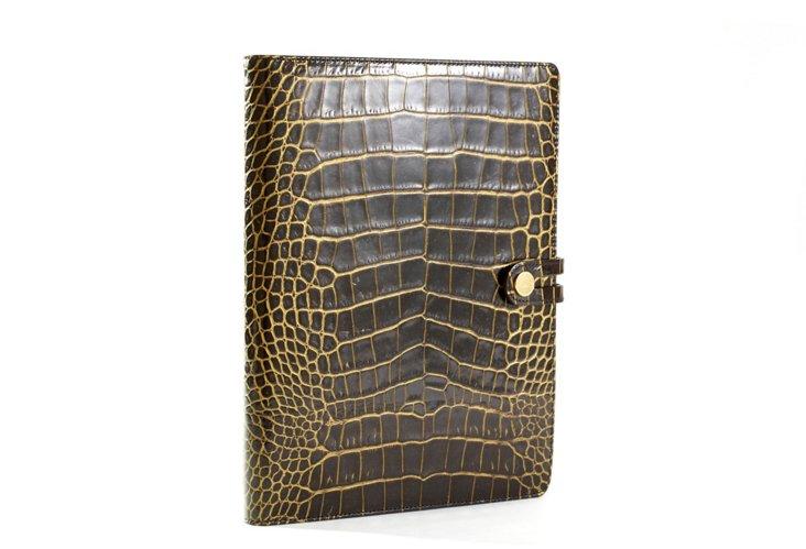 iPad Case, Black Crocodile