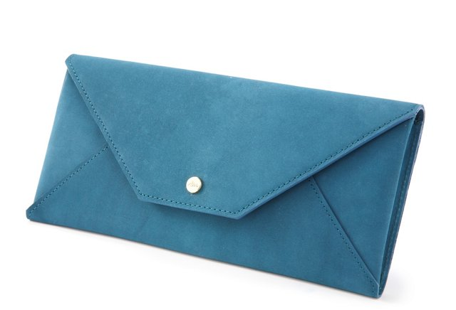 Travel Envelope, Aqua Nubuck