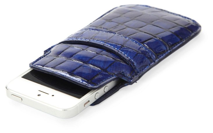 Embossed iPhone 5 Sleeve, Navy
