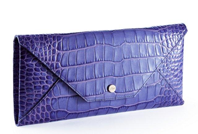 Embossed Travel Envelope, Blue Violet
