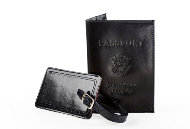 Passport Cover & Luggage Tag, Black