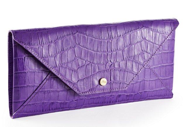 Embossed Travel Envelope, Purple