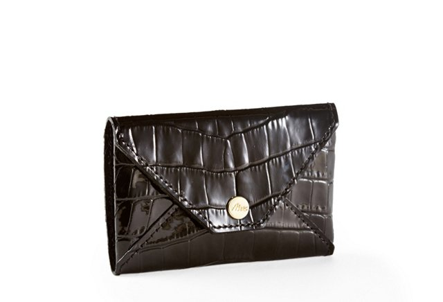 Embossed Card Case, Black