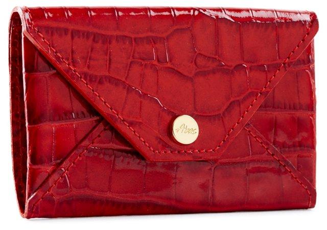 Envelope Card Case, Red