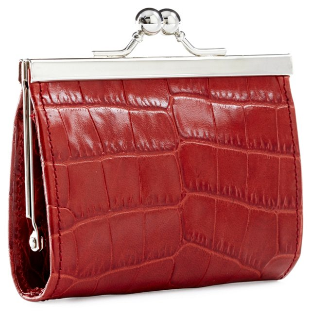 Framed Coin Purse, Red
