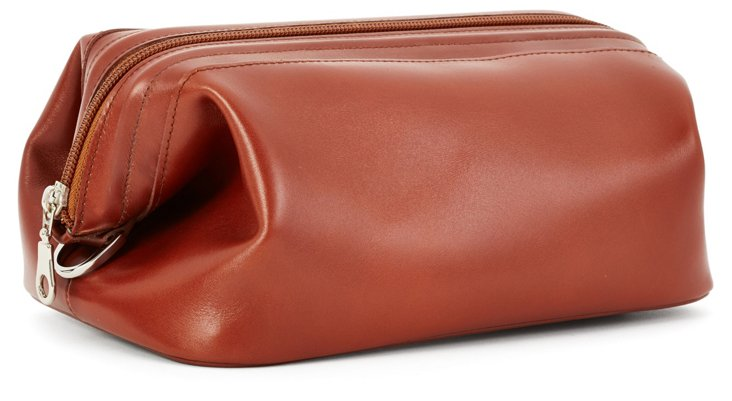 Leather Toiletry Kit, Cognac