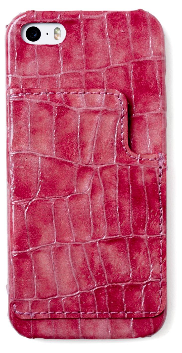 Calfskin iPhone 5 Cover, Wine