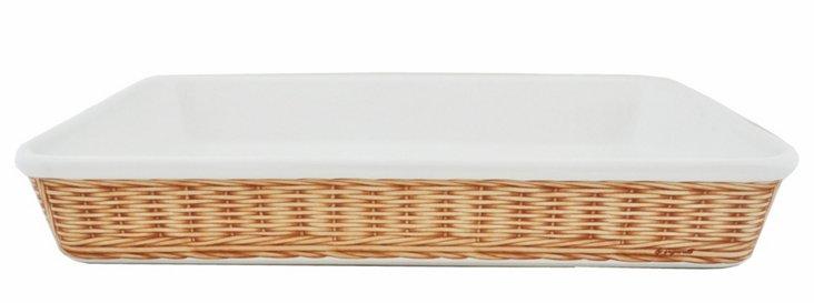 Basket Weave Rectangular Baker