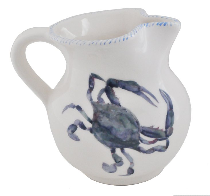 Crab Pitcher, Blue