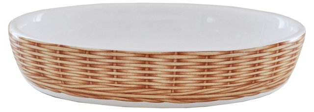 """Oven to Table Basket Weave Baker, 8.25"""""""