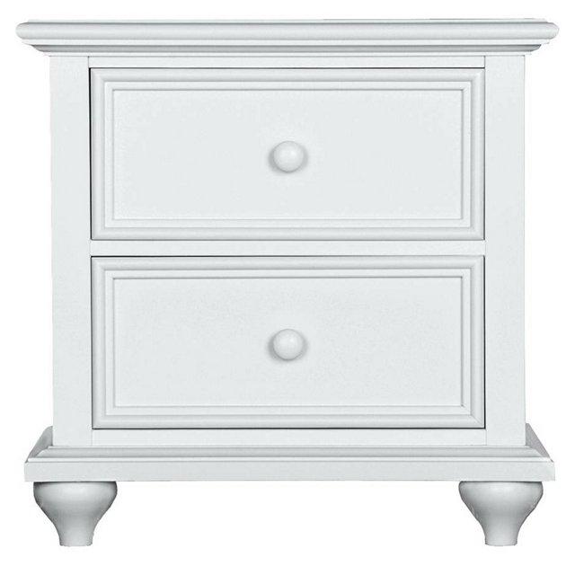 Haven 2-Drawer Nightstand, White