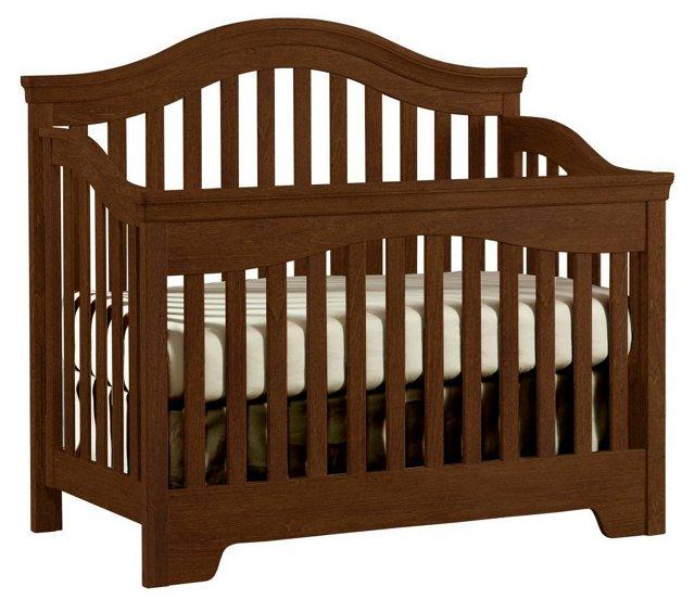 Built To Grow Bravo Crib, Rustic Brown