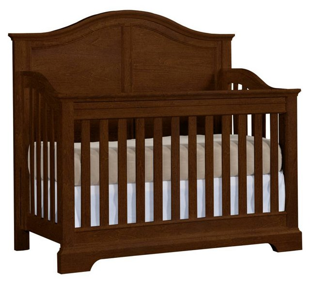 Built To Grow Acclaim Crib, Rustic Brown