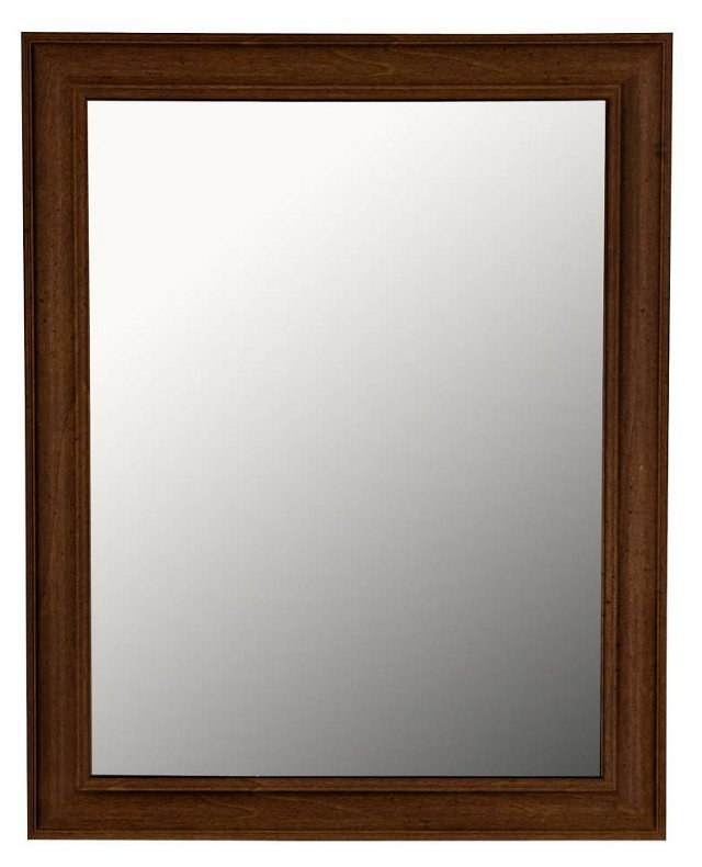 Vertical Mirror, Rustic Brown