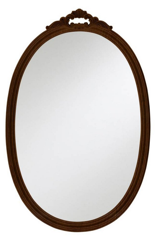 Olivia Oval Mirror, Brown