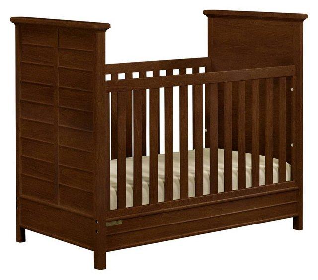 Fanfare Crib, Rustic Brown