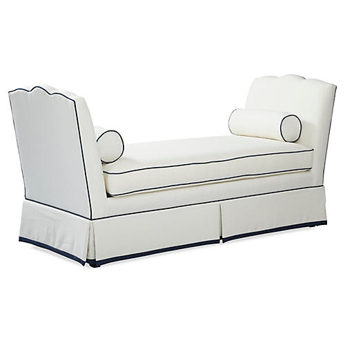 Cheshire Daybed, White/Navy