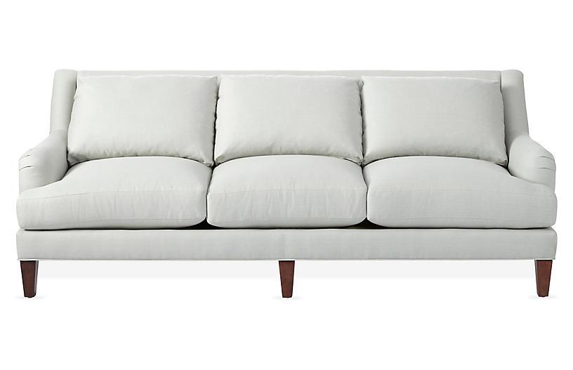 Merrimack Sofa, Sea Glass Linen