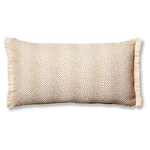 Imogen 12x23 Lumbar Pillow, Beige Dots