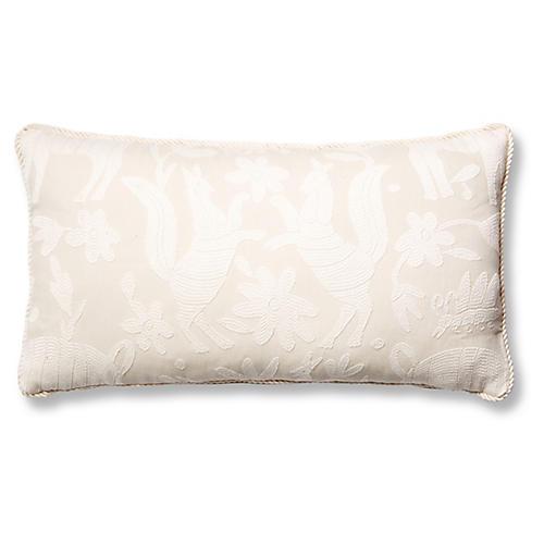 Fauna 12x23 Lumbar Pillow, Ivory