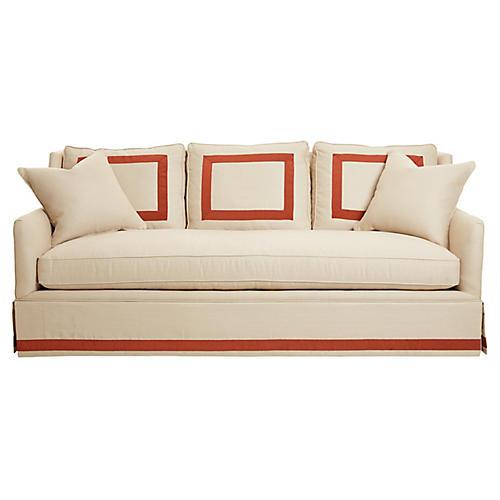 Piermont Sofa, Dune/Rust Linen