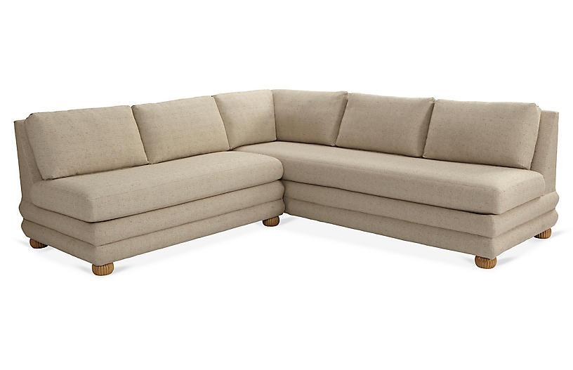 Millbrae Left-Facing Sectional, Barley Crypton