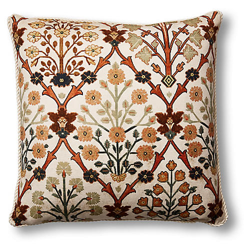Cintra Pillow, Ivory/Rust