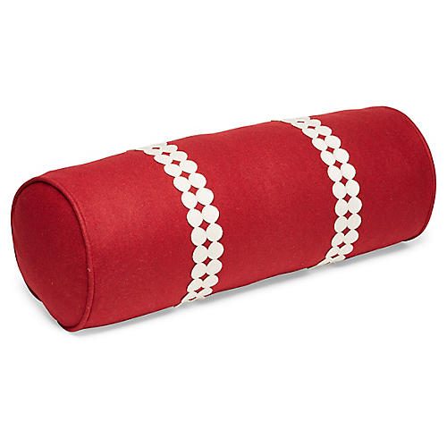 Holly 7x20 Bolster Pillow, Garnet