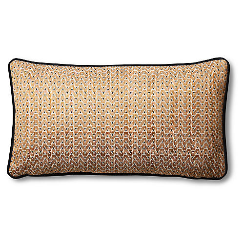 Aria 12x23 Lumbar Pillow, Bronze/Black