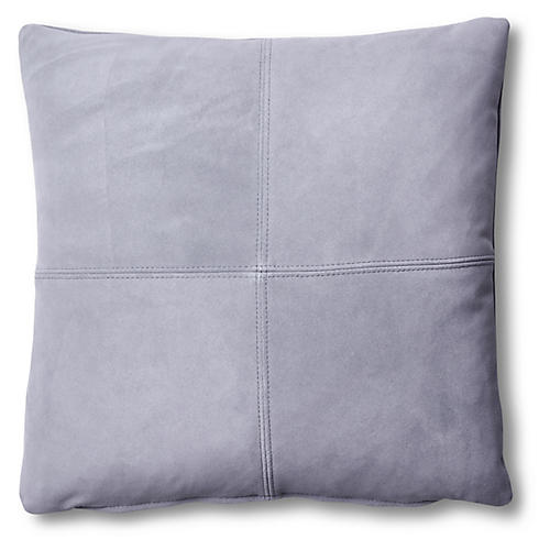 Ava Pillow, Slate Suede